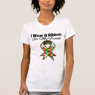 Fita do autismo para meu amigo camisetas
