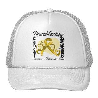 Fita do coração - consciência de Neuroblastoma Bones