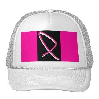 Fita do rosa da consciência do cancro da mama mim boné
