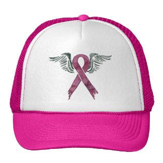 fita e asas cor-de-rosa boné