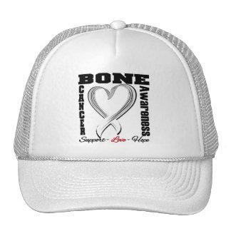 Fita escovada consciência do coração do cancer de  bonés