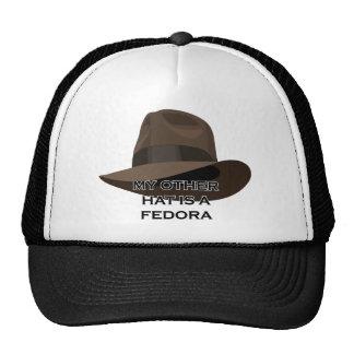 Fita larga de Brown Fedora Boné