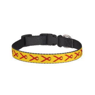 Fita padrão vermelha trela para cães