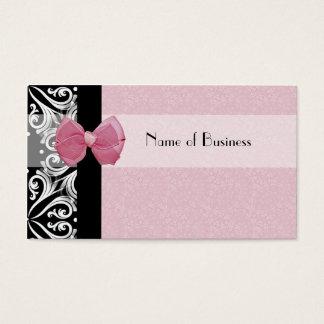 Fita parisiense elegante do rosa do damasco cartão de visitas