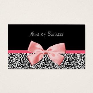 Fita preto e branco na moda do rosa do impressão cartão de visitas