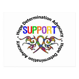 Fita tribal do apoio do autismo cartão postal