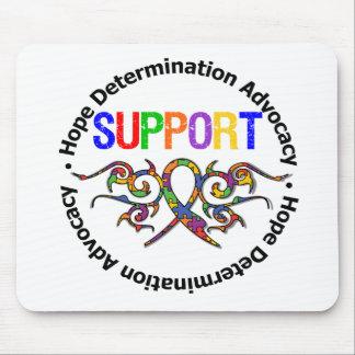 Fita tribal do apoio do autismo mousepads