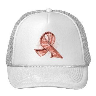 Fita uterina do Watermark do slogan do cancer Boné