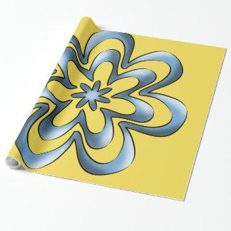 Fitas azuis papel de presente