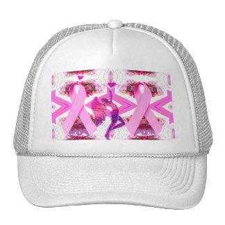 Fitas cor-de-rosa do amor & do Hope_ Bonés