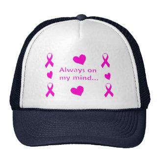 Fitas & corações cor-de-rosa boné