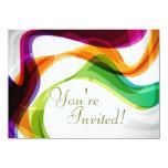 Fitas do arco-íris que Wedding o convite - 1