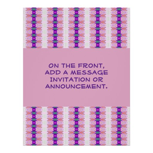 fitas pastel roxas panfleto personalizado