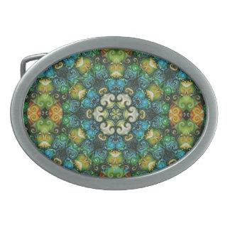 Fivela de cinto colorida decorativa do Rosette da