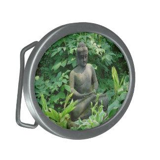 Fivela de cinto do jardim de buddha da meditação