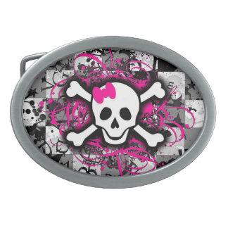 Fivela de cinto feminino cor-de-rosa do tabuleiro