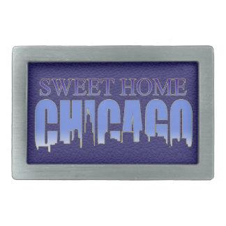 Fivela de cinto Home doce de Chicago