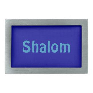 Fivela de cinto retangular azul de Shalom