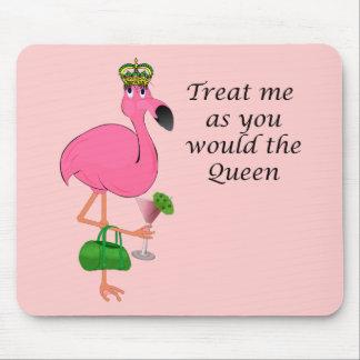 Flamingo cor-de-rosa engraçado Mousepad