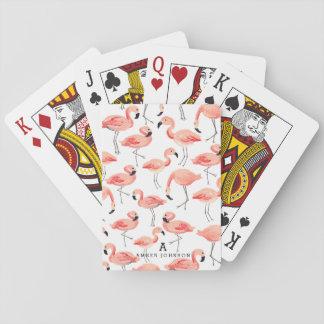 Flamingo personalizado jogos de baralhos