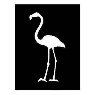 Flamingo preto e branco cartão postal