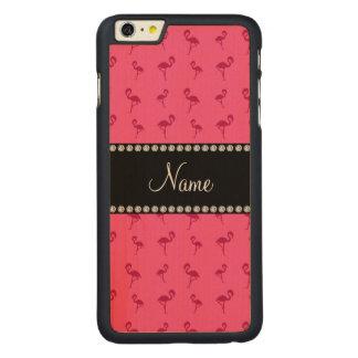 Flamingos cor-de-rosa conhecidos personalizados capa para iPhone 6 plus de carvalho, carved®
