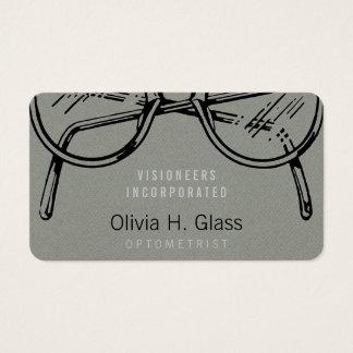 Flanela cinzenta do falso do Eyewear dos Cartão De Visitas