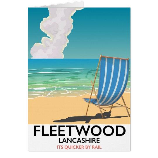 Fleetwood, poster de viagens do beira-mar de cartão