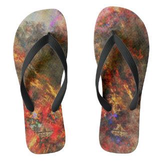 Flip-flop das canvas dos pintores - HAMbyWG Chinelos