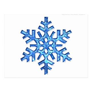 floco azul da neve cartao postal