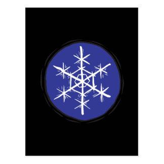 Floco da neve cartão postal