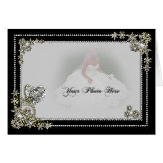 Floco da neve do diamante & foto do inverno do cartão comemorativo