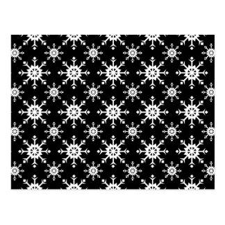Floco de neve 14 preto e branco cartão postal