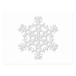 Floco de neve 1 cartão postal