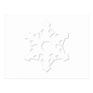 Floco de neve 3 cartão postal