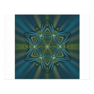 Floco de neve #4 - Azuis e verdes Cartão Postal