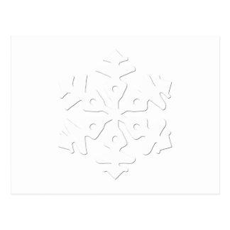 Floco de neve 7 cartão postal