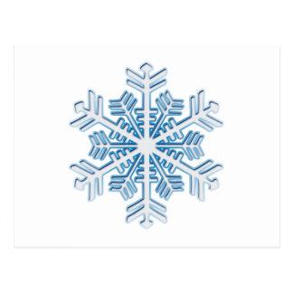 Floco de neve azul gelado clássico do Natal do Cartão Postal