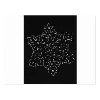 Floco de neve cartão postal