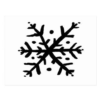 Floco de neve de flutuação - nd cartão postal