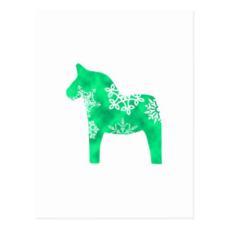 Floco de neve do cavalo de Dala Cartão Postal