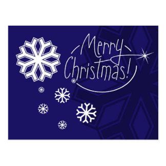 Floco de neve do Feliz Natal Cartão Postal