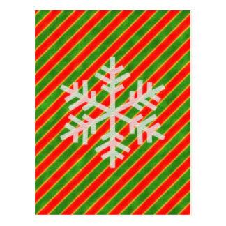 Floco de neve do feriado cartão postal