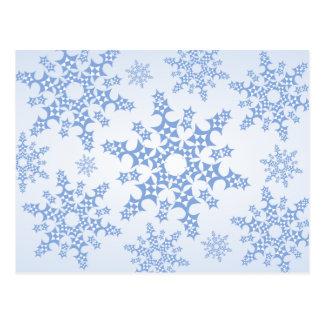 Floco de neve dos retalhos cartão postal