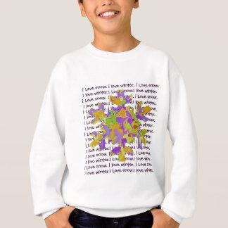 floco de neve eu amo o inverno camiseta