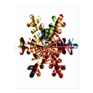 Floco de neve - teste padrão holístico da faísca v cartoes postais