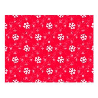 Flocos bonitos da neve cartão postal
