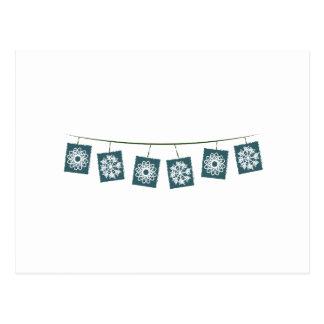 Flocos da neve cartão postal