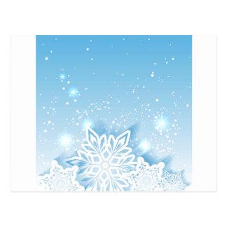 flocos de neve 3-D Cartão Postal