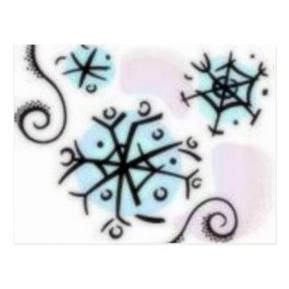 Flocos de neve abstratos cartão postal